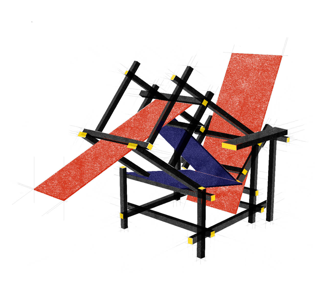 Two Schröder chairs attempting to have sex